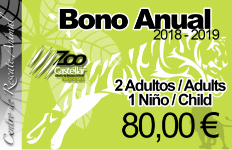 Bono Anual Familiar 2 adultos 1 niño.