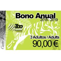 Bono Anual 3 Adultos.